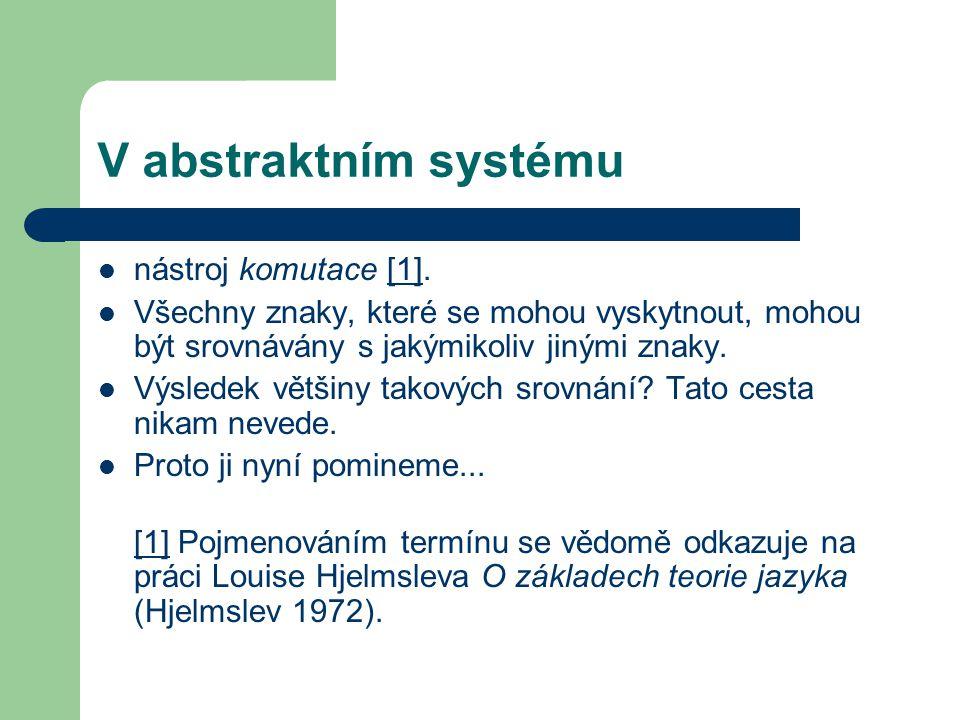 V abstraktním systému nástroj komutace [1].